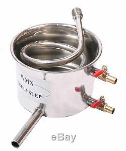 10-100L 3 Pots DIY Stainless/ Copper Distiller Moonshine Still Water Alcohol Oil