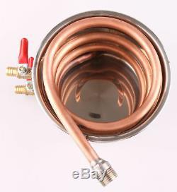 10-100L 3 Pots Home Distiller Moonshine Still Vodka Water Alcohol Oil Brew Kits