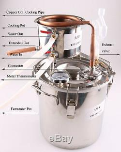10-100L Moonshine Still Oil Wine Vodka Water Alcohol Copper/Stainless Distiller