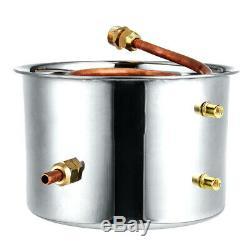 10-20L DIY Home Distiller Moonshine Copper Still Water Alcohol Oil Brewing Set