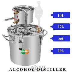 10-30L Home Distiller Moonshine Still Boiler Spirits Alcohol Water Oil Stainless