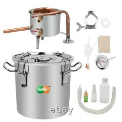 10-30L Moonshine Still Alcohol Distiller Gin Essential Oil Water withThermometer