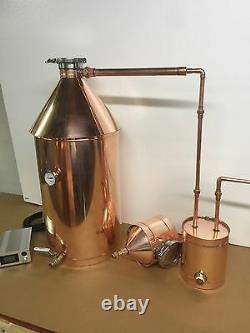 10 Gallon Copper Moonshine Still Still With Gin Basket-240 Volt Electric