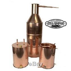 10 Gallon Copper Moonshine Still With 3 Gallon Worm & Thumper
