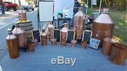 10 Gallon Copper Moonshine Still with Worm and Thumper from Vengeance Stills