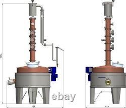 100 Litre Copper Pot Still, Distillery, Gin Rum, Moonshine, Homebrew. Ex Display