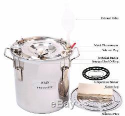 10100L DIY Home Distiller Moonshine Copper Still Water Alcohol Oil Brewing Set