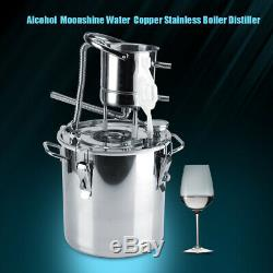 10L/20L Wine Alcohol Water Distiller Moonshine Still Boiler Stainless Copper New