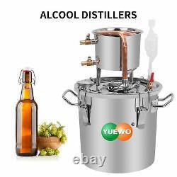 10L/2GAL 2POTS Alcoho Moonshine Distiller Copper Wine Maker Water Still Boiler