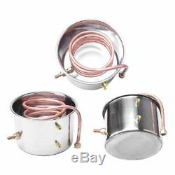 10L-30L Alcohol Moonshine Water Copper Home Stainless Alcohol Distiller Brewing