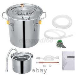 10L Water Alcohol Distiller Moonshine Ethanol Copper Boiler DIY Home UK