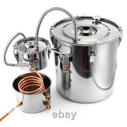 11Gal Moonshine Still 30L Water Alcohol Distiller Home Brewing Kit +Copper Tube