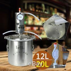 12/20L DIY Home Alcohol Distiller Wine Maker Moonshine Ethanol Copper Still New