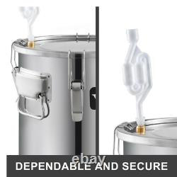 12/21/38L DIY Moonshine Still Alcohol Distiller Copper With Circulating Pump