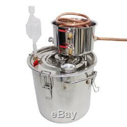 12L 3 Gal Alcohol Moonshine Copper Still Water Distiller Stainless Steel