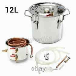 12L Distiller Pure Water Moonshine Still Spirits Alcohol Distillation Brew Kits
