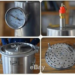 12L Stainless Steel Moonshine Still Home Pure Water Alcohol Whiskey Distiller