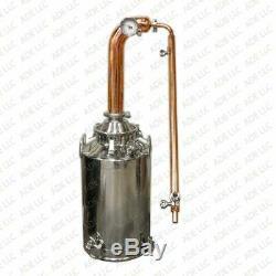 13 Gallon Moonshine Still with 3 Copper Pot Still Column