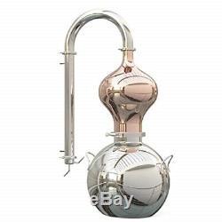 15 Liter 4 Gallon Copper Moonshine Still Alcohol Distiller Brew Wine Making Kit