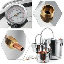 2/3/5/8GAL Copper Distiller Moonshine Ethanol Alcohol Water Spirits Still Boiler