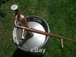 2 Column Ethanol Moonshine Copper Whiskey Still Olympic Beater! Moonshine