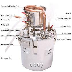 2 Gal /10L Moonshine Still Alcohol Brandy Oil Water Distiller Fermenter Cooler