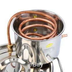 2 Gal(8L) Copper Alcohol Moonshine Ethanol Still Spirits Boiler Water Distiller