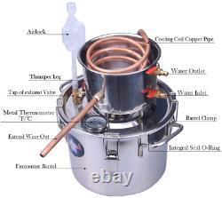 2 Gal Copper Tube Moonshine Still Spirits Kit Water Alcohol Distiller Home Brew