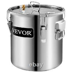 2 Pots Home Alcohol Distiller Moonshine Still Boiler Stainless Copper 5 Gal 20L