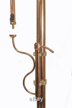 2 Reflux copper rectification column 96.4 Alcohol Distiller, Moonshine Still