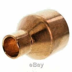 2 x 3/4 Copper Coupling Reducer Moonshine Spirit Still Column To Condenser DIY