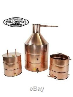 20 Gallon Copper Moonshine Still (heavy Copper) With 5 Gal Worm & 5 Gal Thumper