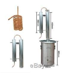 20 L Copper Moonshine Still Water Distiller Alcohol Wine Brandy Brew Making Kit
