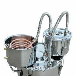 20L 3 Pots Alcohol Distiller Copper Moonshine Ethanol Water Still Wine Maker