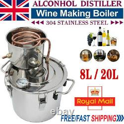 20L 5Gal Alcohol Distiller Moonshine Copper Still Water Wine Maker Boiler Making