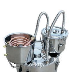 20L 5Gal Alcohol Distiller Moonshine Still Boiler Stainless Steel Copper UK