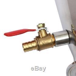 20L/5Gal Alcohol Water Distiller Moonshine Still Boiler Stainless Copper Pump @