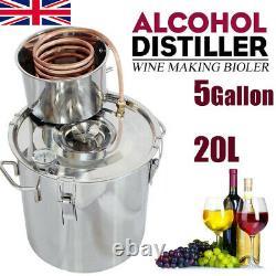 20L Alcohol Distiller Copper Wine Maker Water moonshine Still Boiler Spirits UK