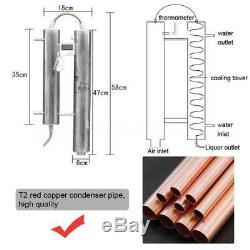 20L Moonshine Still Stainless Steel Copper Distiller Spirits Alcohol Oil Boiler