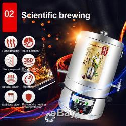 220V 4000mL Alcohol Distiller Moonshine Ethanol Copper Still 304 Stainless Boile