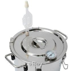2GAL 10L Copper Distiller Moonshine Wine Water Alcohol Brewing Still Boiler