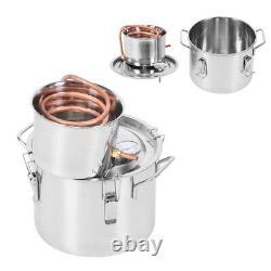 2GAL 2POTS Alcoho Distiller Moonshine Copper Wine Maker Water Still Boiler UK