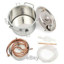 2GAL/8L Copper Ethanol Water Alcohol Distiller Moonshine Still Stainless Steel D
