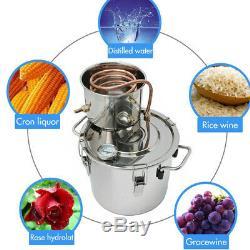 2GAL/8L Copper Moonshine Ethanol Alcohol Water Distiller Still Stainless Boiler