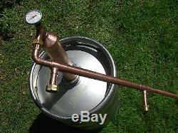 2column Ethanol Moonshine Whiskey, Copper Still Olympic Killer! Moonshine