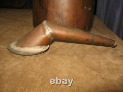 2pc Vintage Moonshine Copper Still & Huge Funnel Brass Srcew On Cap 16 Tall