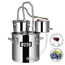 3 /5/8 Gal Copper Alcohol Moonshine Ethanol Still Spirits Boiler Water Distiller