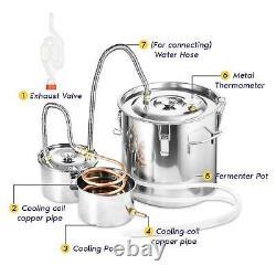 3/5GAL 8 Gal Copper Distiller Moonshine Still Ethanol Alcohol Water Still Boiler