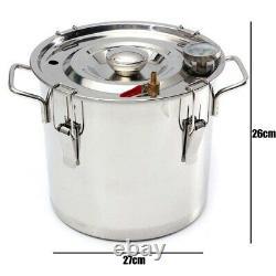 3/5Gal 12/20L Moonshine Ethanol Alcohol Water Distiller Still Boiler Thumper
