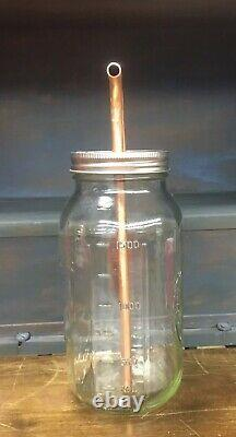 3/8 Mason Jar Thumper for Wide Mouth Half Gallon Mason Jar, Moonshine, Distill